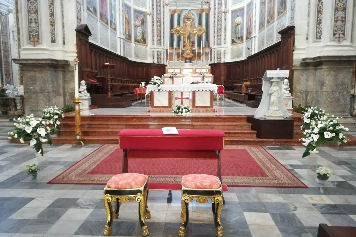 allestimento chiesa San Nicola di Bari