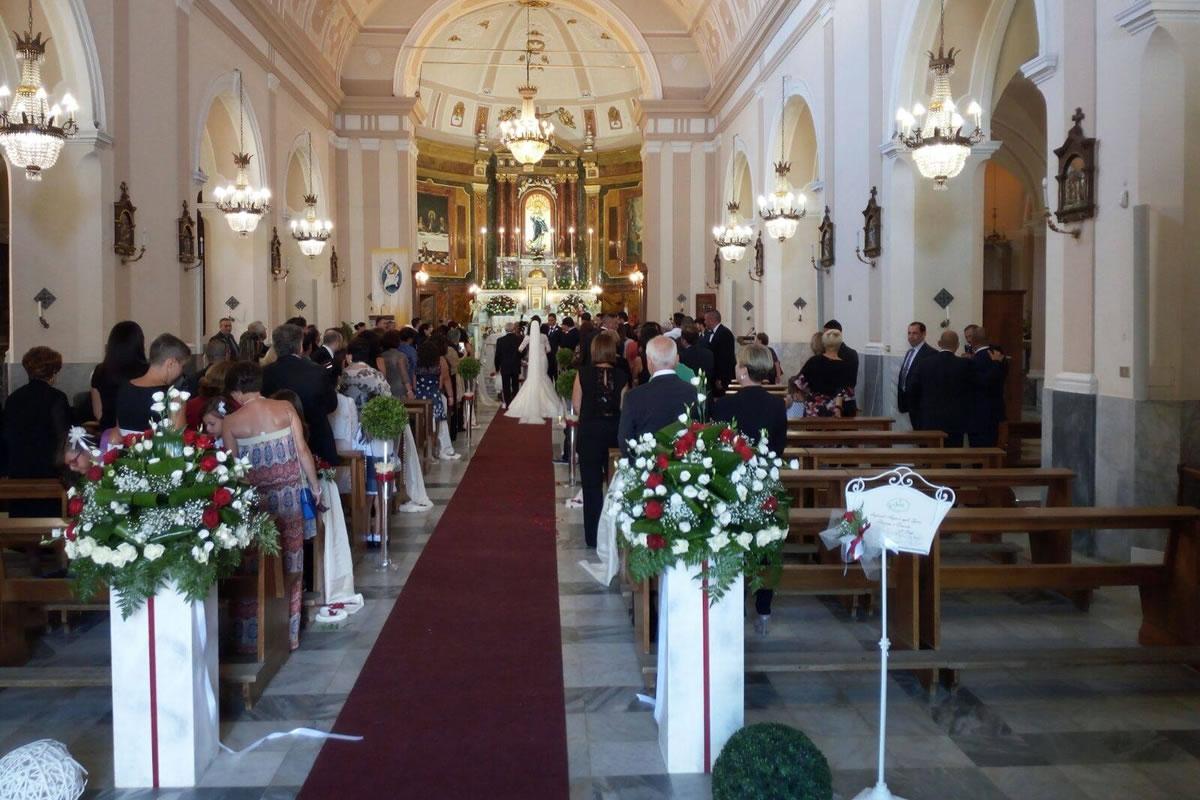 Sposi Adriana e Ernesto Chiesa Santa Petronilla - Trabia